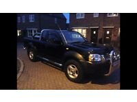 Nissan Navara Black Crew Cab Pick up 05 Plate 107k Miles, excellent condition
