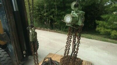 Jd Neuhaus Chain Hoist 6 Ton With Electric Remote Lift.