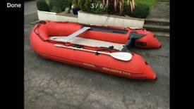 Excel 356 inflatable dinghy