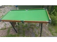 Snooker table but no balls or cues in good condition hardly used