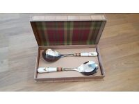 Brand New, boxed, Spode Glen Lodge Salad Servers £6 ONO. RRP £15