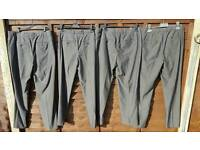 Mens trousers x4 different sizes