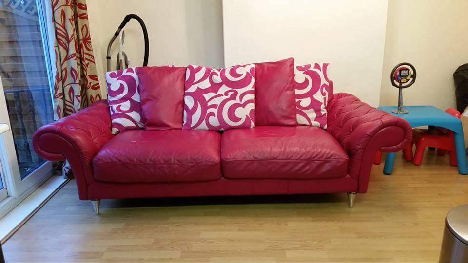3 seater burlesque sofa with matching armchair and footstool for ...