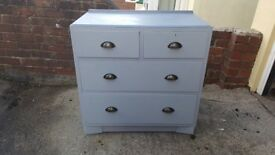 Solid fully refurbished in Swedish grey with slightly darker grey top