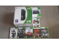 Xbox 360 S 250gb system with second wireless controller 6 games
