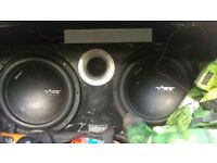 2 vibe twin subs and amp cheap