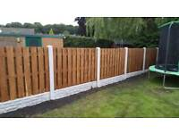 Double sided fence panel 6 x 5