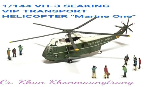 """F-toys 1/144 VH-3 SEAKING VIP TRANSPORT HELICOPTER U.S. ARMY """"Marine One"""" SECRET"""