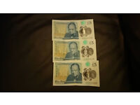 first banknotes.5 POUNDS very rare made known to the collection are waiting Deals