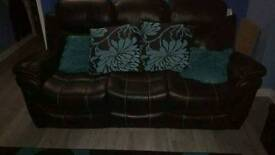 3&2 leather recliners. NEW