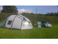 Excellent condition Sunncamp Evolution 600dl 6 man tent with carpet and accessories USED ONLY TWICE