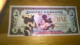 RARE LIMITED EDITION Lewis Bannister signed Disney Dollar