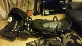 Black graco pushchair