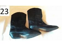 Real leather Ladies Wrangler line dancing boots size 8, only worn a couple of times.