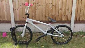 Ruption Grey/Pink Unisex Kids BMX Bike - 20 Inch Wheels - Restored & fully working