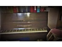 UPDATED! Upright Piano by W H Barnes of London (reconditioned in 1980s) Good condition, nice tone.