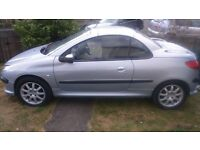 peoteot 206cc 2.0 2001 year convertible very good car .......