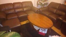 Sofa set leather Italian