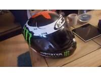 HJC RPHA 10 monster energy helmet so as new motorcycle helmet