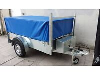NEW GALVANISED MESHSIDED TRAILER WITH REAR RAMP DOOR