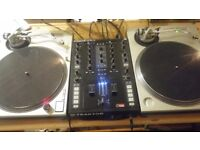 Technics SL1200 x2 + NI Kontrol Z2 with Traktor Scratch
