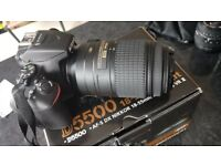 Nikon D5500 only 1200 activation's complete with 55mm lens 55mm/300 zoom len