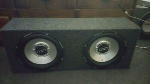 "Two 12"" phoenix gold subs"