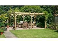 Wooden Garden pergola 4m x 2.4m (6x2) Timbers