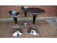 barstools chair black for sale 2x stools and 1x table