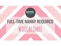 ***FULL-TIME NANNY POSITION AVAILABLE - WOOLACOMBE, NORTH DEVON***