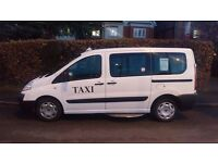 FIAT SCUDO TAXI-HACKNEY CARRIAGE 7 PASSENGERS + WHEEL CHAIR ACCESSIBLE VEHICLE
