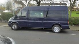 Ford transit 350 LWB MINI BUS 9 seat with MOT start and drive very well