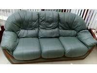 Two leather sofa's for sale