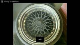 bbs rs type rims chrome lip wide 9.5j mint tyres