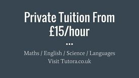 Kingston Tutors - £15/hr - Maths, English, Science, Biology, Chemistry, Physics, GCSE, A-Level