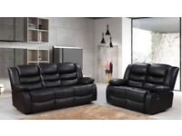 Leather recliner 3+2 seater sofa