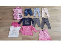 Bundle of baby girl clothes size 12-18months