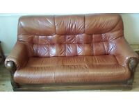 3-2-1 leather suite