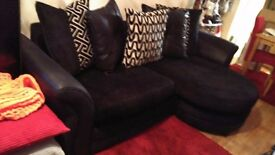 lovely sofa as new, smoke free home, long bit goes to either side,