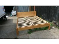 kingsize pine bed - easy assemble free delivery