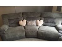 4 seat power recliner sofa with foot stool