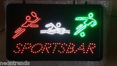 SPORTSBAR LED Bord Leuchtreklame LEDs Panels BAR Shop Reklame Schild sign