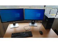 i5 6th Gen 8Gb 500Gb Dell PC + Dual Monitors
