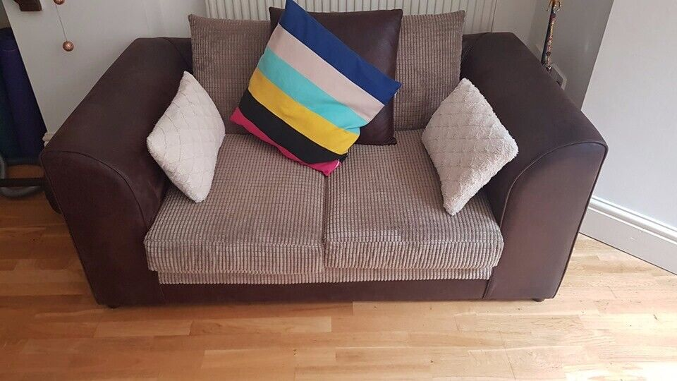 Miraculous Two Seater Faux Leather Sofa Great Condition In Whalley Range Manchester Gumtree Squirreltailoven Fun Painted Chair Ideas Images Squirreltailovenorg