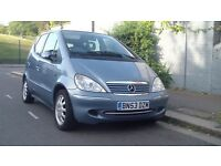 2003 MERCEDES A140 ELEGANCE AUTO SILVER LOW MILEAGE
