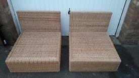 2 x Wicker Chairs