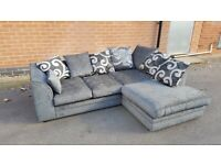 HIGH QUALITY CHENILLE FABRIC BARCELONE AVAILABLE IN CORNER OR 3+2 SOFA SET