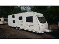 Lunar Quasar FB 6 berth caravan 2009 FIXED BUNK BED Awning, motor mover, VGC, Bargain !!!!