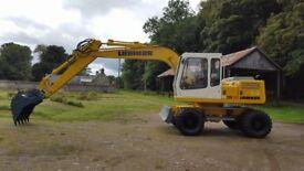 liebherr a900 wheeled excavator
