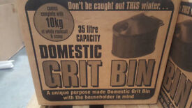 35 litre domestic grit bin - brand new